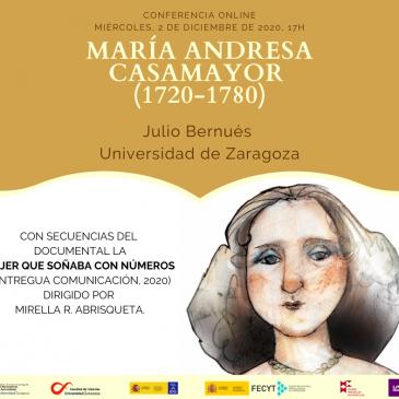 Conferencia online: «María Andresa Casamayor (1720-1780)»