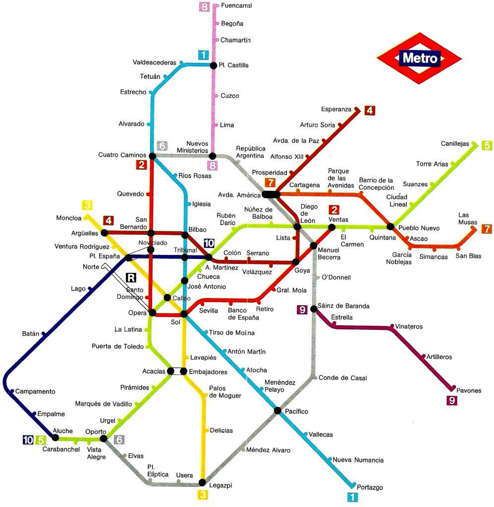 metro madrid 1982