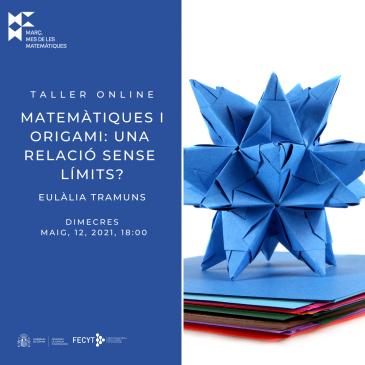 Taller online «Matemàtiques i origami: una relació sense límits?»