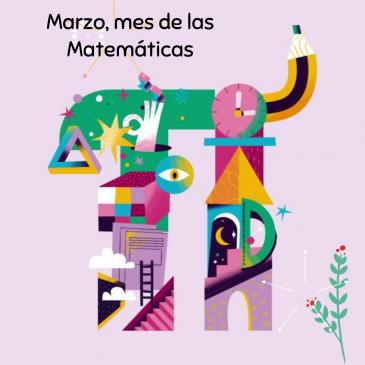 Felicitación de navidad de Marzo,  mes de las matemáticas