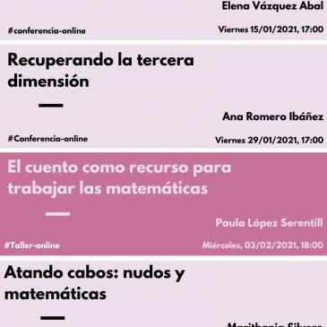 Programación de conferencias y talleres del proyecto para enero-febrero