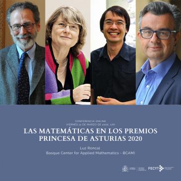 Conferencia online «Las matemáticas en los premios Princesa de Asturias 2020»